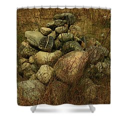 Heap Of Rocks Shower Curtain