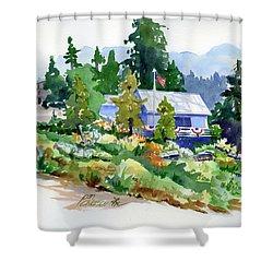 Hearse House Garden Shower Curtain