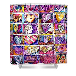Heart 2 Heart Shower Curtain