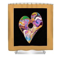 Heart Bowl Shower Curtain