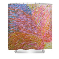Heart Burst Shower Curtain by Rachel Hannah
