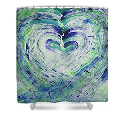 Heart Centered Peace And Love Shower Curtain