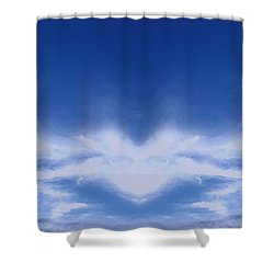 Heart Cloud Shower Curtain
