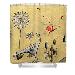 Heart Cottage Red 2 Shower Curtain
