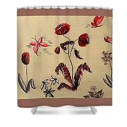 Heart Cottage Red 3 Shower Curtain