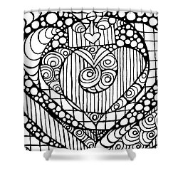 Heart Crown Tangle Shower Curtain