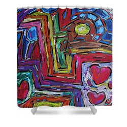 Shower Curtain featuring the pastel Heart Felt Treasure II by Dianne  Connolly