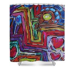 Heart Felt Treasure II Shower Curtain by Dianne  Connolly