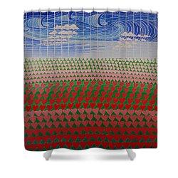 Heart Fields Shower Curtain