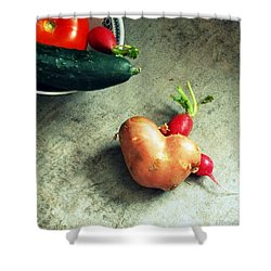 Heart For Lunch Shower Curtain