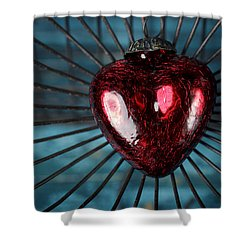 Heart In Cage Shower Curtain