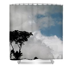 Heart In The Clouds Shower Curtain