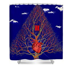 Heart Is The Abode Of The Spirit Shower Curtain
