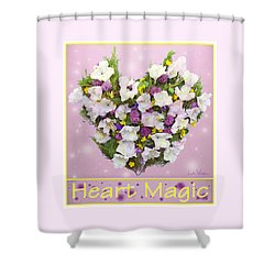 Shower Curtain featuring the digital art Heart Magic by Lise Winne