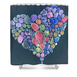 Heart Mosaic Shower Curtain