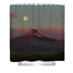 Heart Mountain And Full Moon-signed-#0273  #0273 Shower Curtain