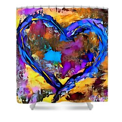 Heart No 7 Shower Curtain