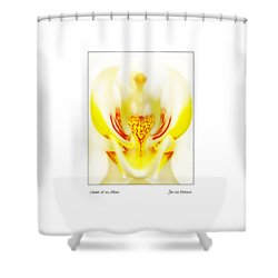 Shower Curtain featuring the photograph Heart Of An Alien by Jennie Breeze