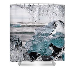 Heart Of Ice Shower Curtain