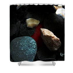 Heart Of Stone Shower Curtain by RC DeWinter