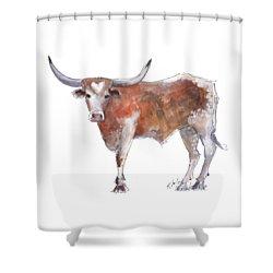 Heart Of Texas Longhorn Shower Curtain