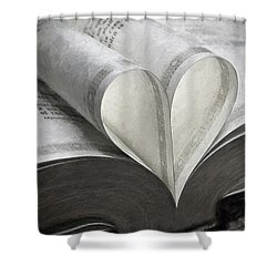 Heart Of The Book  Shower Curtain