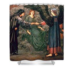 Heart Of The Rose Shower Curtain by Sir Edward Burne-Jones