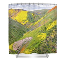 Shower Curtain featuring the photograph Heart Of The Temblor Range by Marc Crumpler