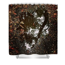 Shower Curtain featuring the photograph Heart Of The Wood by Rasma Bertz