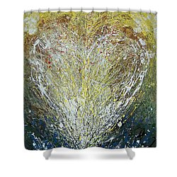 Heart One Shower Curtain