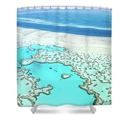 Shower Curtain featuring the photograph Heart Reef by Az Jackson