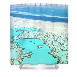 Heart Reef Shower Curtain