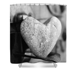 Our Love Is Like A Rock Solid Shower Curtain by Toni Hopper