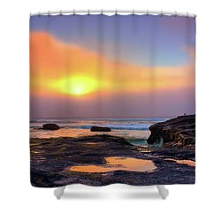 Shower Curtain featuring the photograph Heart Shaped Puddle by Tyra OBryant