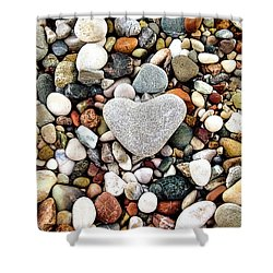 Heart-shaped Stone Shower Curtain