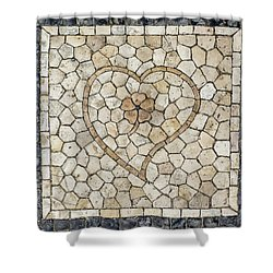 Heart Shaped Traditional Portuguese Pavement Shower Curtain