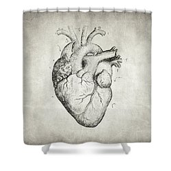 Heart Shower Curtain by Taylan Apukovska
