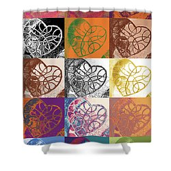 Heart To Heart Rendition 5x3 Equals 15 Shower Curtain