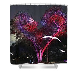 Heart Tree And Birds Shower Curtain