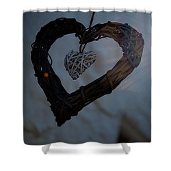 Heart With A Heart II Shower Curtain