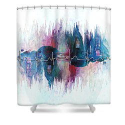 Heartbeat Drama Shower Curtain