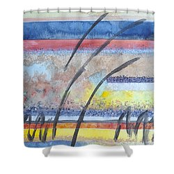 Shower Curtain featuring the painting Heartbeat by Jacqueline Athmann