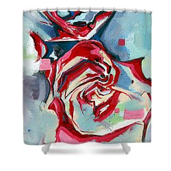 Heartfelt Rose Shower Curtain by John Jr Gholson