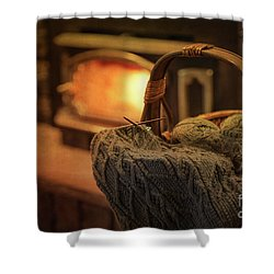 Hearth And Home Shower Curtain by Nicki McManus