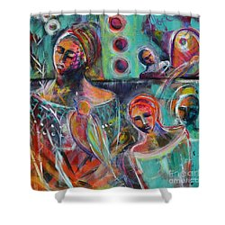 Hearth Of Connection Shower Curtain by Gail Butters Cohen