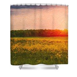 Heartland Glow Shower Curtain by Tom Mc Nemar