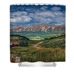 Heartland Of The Colorado Rockies Shower Curtain by Michael J Bauer