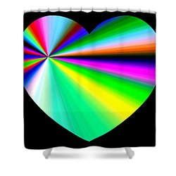 Heartline 3 Shower Curtain by Will Borden