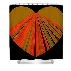 Heartline 5 Shower Curtain