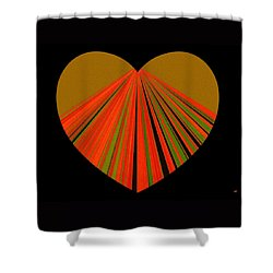Heartline 5 Shower Curtain by Will Borden